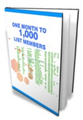 Product picture One Month To A 1000 List Members - Successful Emailing List